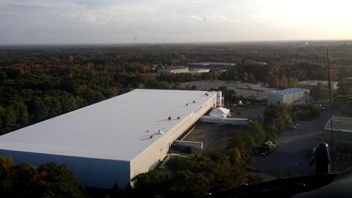 Avon industrial building aerial