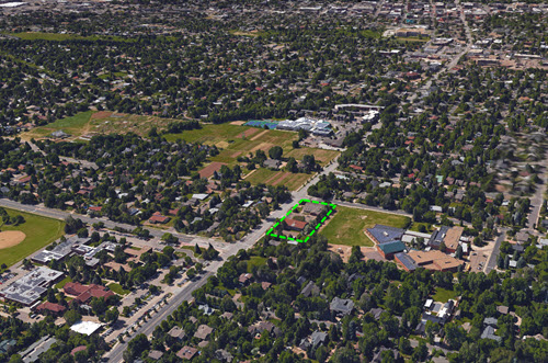 Boulder mixed use building aerial