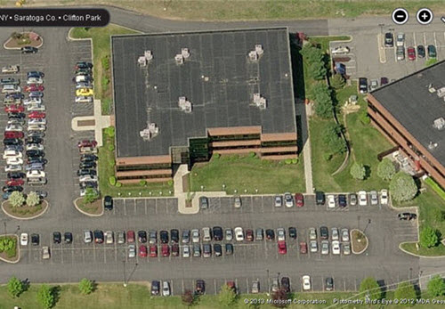 Clifton Park Plank office building aerial