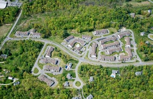 Delmar apartments aerial