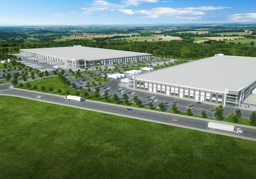 Douglasville industrial building aerial
