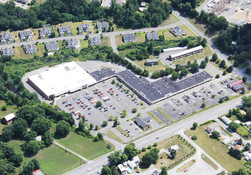 East Greenbush retail plaza aerial