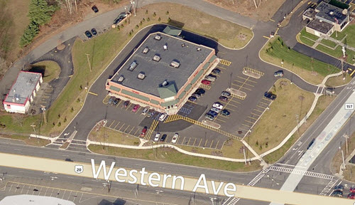 Guilderland shopping center aerial