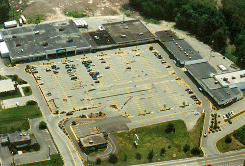 Monticello shopping center aerial