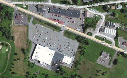 Montrose Price Chopper aerial