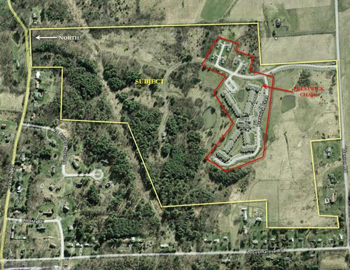 Saratoga Springs lot aerial