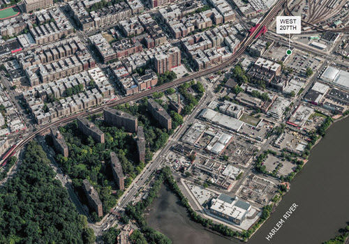 New York aerial of ground lease