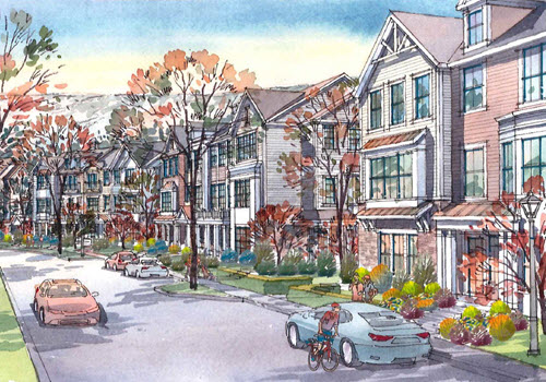 Simsbury Ridge apartment community render