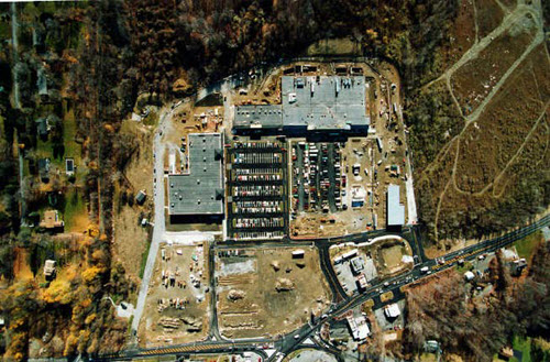 Somers shopping center aerial
