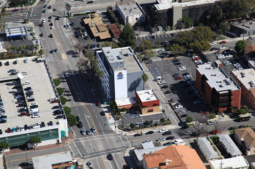 Toluca Lexham Burbank office building aerial